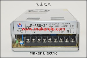 S-350 正面 power switching supply