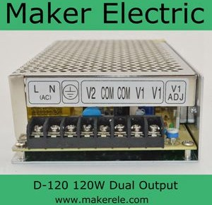 D-120 dual output switching power supply