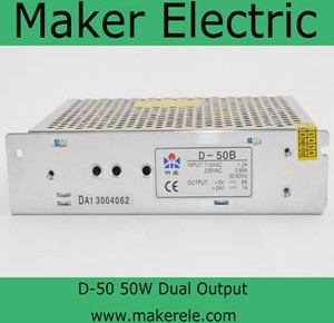 D-50 50w dual output switching power supply