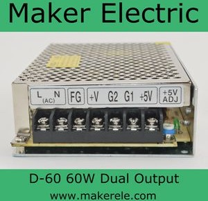 D-60 dual output switching mode power supply