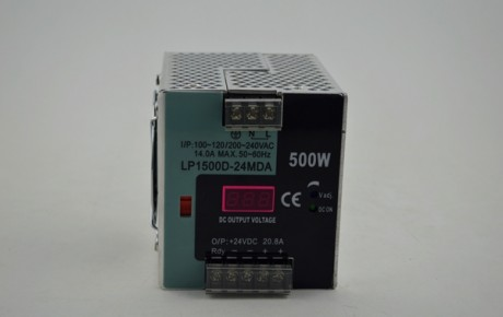 Digital display, small volume, guide rail type, fine-tuning, single output switching power supply