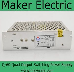 Q-60 60w quad output switching power supply
